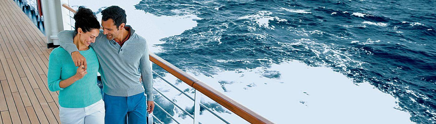 Cruiseschip met stel